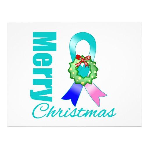 Fita do Feliz Natal do câncer de tiróide Panfleto