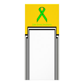 Fita do padrão do verde limão 10.16 x 22.86cm panfleto