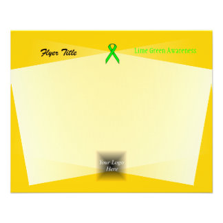 Fita do padrão do verde limão flyer 11.43 x 14.22cm