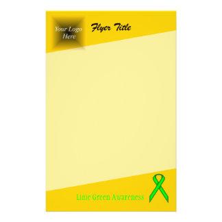 Fita do padrão do verde limão flyer 13.97 x 21.59cm