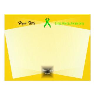 Fita do padrão do verde limão flyer 21.59 x 27.94cm