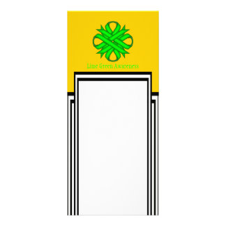 Fita do trevo do verde limão 10.16 x 22.86cm panfleto