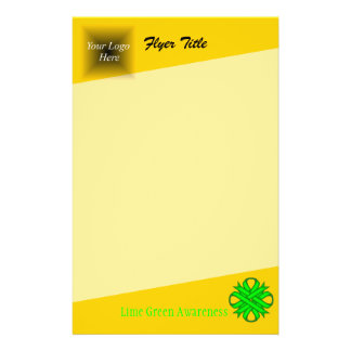 Fita do trevo do verde limão flyer 13.97 x 21.59cm