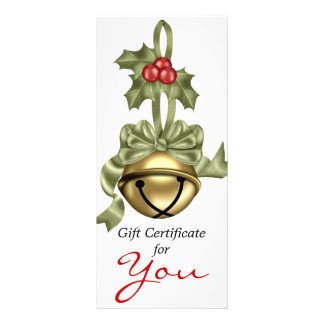 Fita do verde de Bell do ouro do certificado de 10.16 X 22.86cm Panfleto