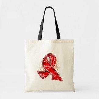 Fita do Watermark do slogan do cancer de sangue Bolsa De Lona