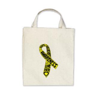 Fita dos slogan da endometriose bolsa de lona