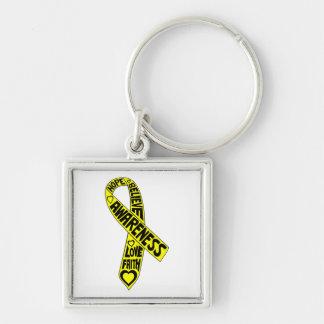 Fita dos slogan da endometriose chaveiro