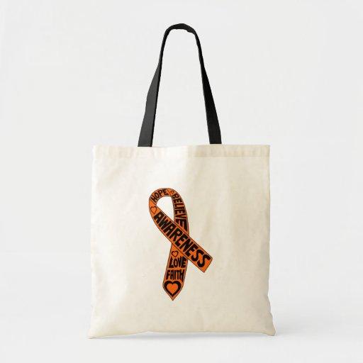 Fita dos slogan da leucemia bolsas
