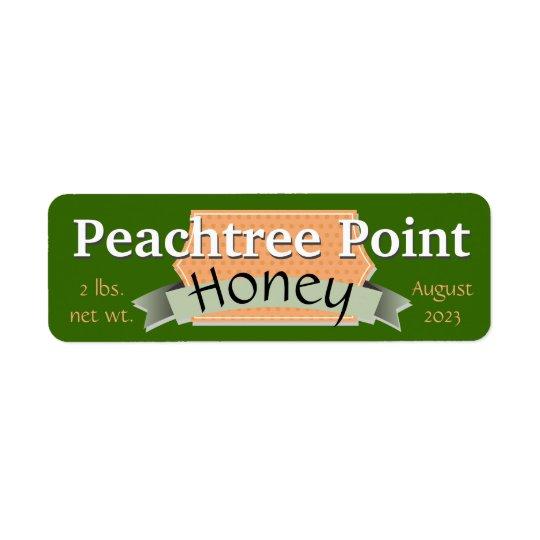 Fita e frasco personalizado bandeira do mel etiqueta endereço de retorno