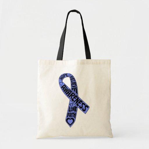 Fita esofágica dos slogan do cancer bolsas para compras