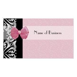 Fita parisiense elegante do rosa do damasco modelos cartões de visita