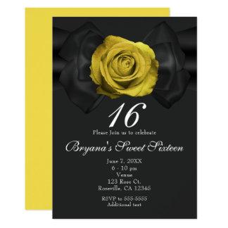 Fita preta & rosa amarelo ALGUNS convites da COR