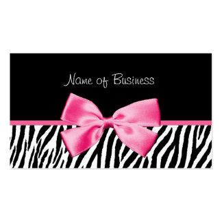 Fita preto e branco na moda do rosa do impressão cartão de visita