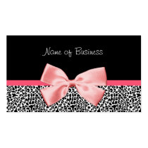 Fita preto e branco na moda do rosa do impressão d cartões de visita