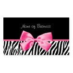 Fita preto e branco na moda do rosa do impressão d cartoes de visita
