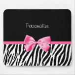 Fita preto e branco na moda do rosa do impressão d mouse pad