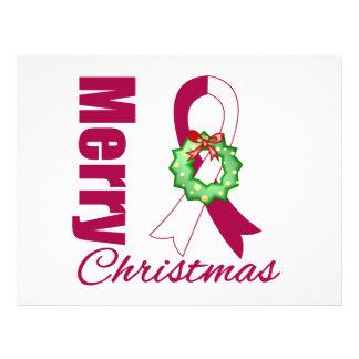 Fita principal do Feliz Natal da consciência do ca Panfletos Personalizado
