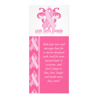 Fitas cor-de-rosa cada dia 10.16 x 22.86cm panfleto