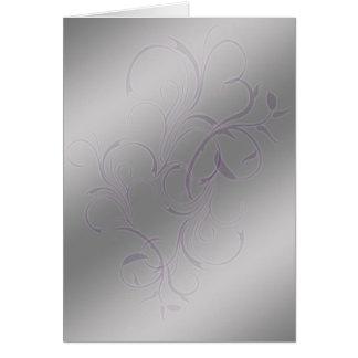 Fitas de prata (retrato) cartão comemorativo