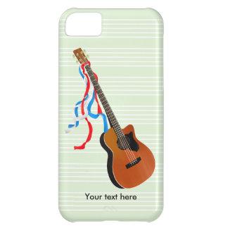 Fitas patrióticas da guitarra baixa de Acoutic Capa Para iPhone 5C