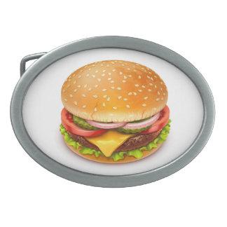 Fivela de cinto americana do Oval do hamburguer