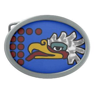 fivela de cinto asteca do calendário de 12 águias
