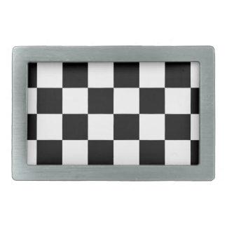 Fivela de cinto Checkered da auto competência da