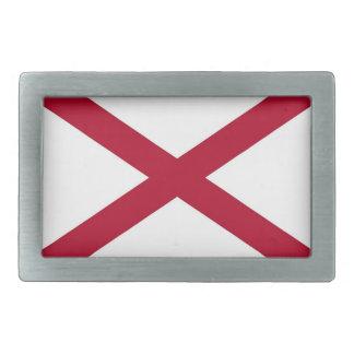 Fivela de cinto com a bandeira de Alabama