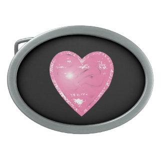 Fivela de cinto cor-de-rosa do coração da vaqueira