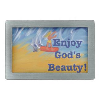 Fivela de cinto cura da beleza do deus da igreja