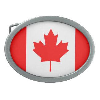 """Fivela de cinto da bandeira de Canadá """"Canadá"""""""