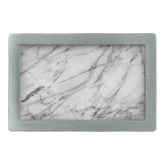 Fivela de cinto de mármore cinzenta & branca do