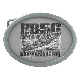 Fivela de cinto de Washington da navio de guerra