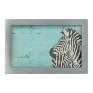 Fivela de cinto do azul da zebra do Grunge