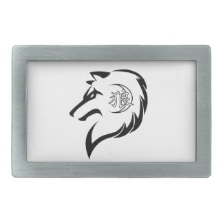 Fivela de cinto do logotipo do lobo das ANSR