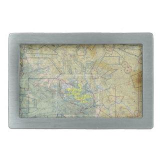 Fivela de cinto do mapa da aviação