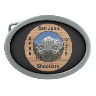 Fivela de cinto do oval de San Juan Shootist