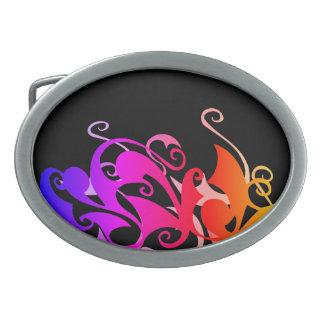 Fivela de cinto do redemoinho do arco-íris