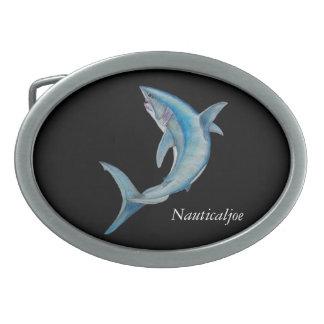 fivela de cinto do tubarão de mako