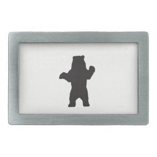Fivela de cinto do urso preto