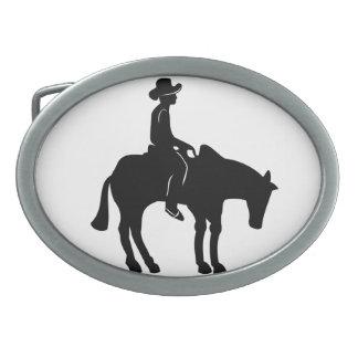 Fivela de cinto do vaqueiro e do cavalo