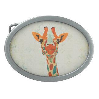 Fivela de cinto espreitando ambarina do girafa