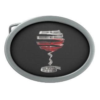 Fivela de cinto estranha do Oval do vidro de vinho