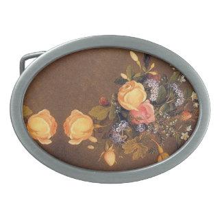 Fivela de cinto floral das flores dos rosas de