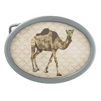 Fivela de cinto gasto do camelo do vintage