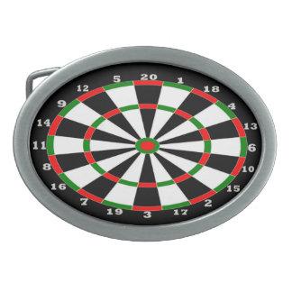 Fivela de cinto oval - design do Dartboard
