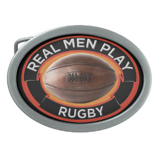 Fivela de cinto real do Oval do rugby do jogo dos