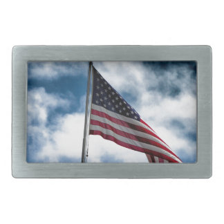 Fivela de cinto retangular da bandeira americana