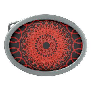 Fivela de cinto sagrado da geometria no vermelho