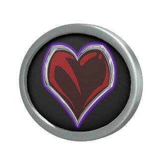"""Fivela de cinto """"sagrado"""" do emblema do coração"""